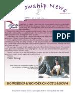 Sept 20, 2011 The Fellowship News