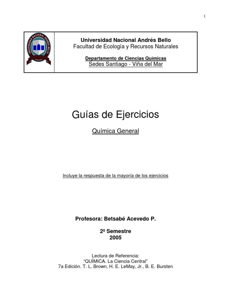 Guia Ejercicios de Quimica General (Qui100)