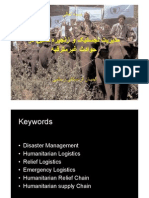 Logistics Management in Disaster