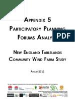 Appendix 5 ~ Participatory Planning Forums Analysis