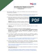 Requisitos registar una Organizacion Civl