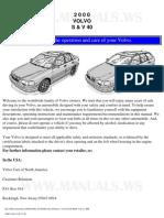 2000 Volvo S40 Owner's Manual