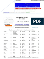 Distâncias entre SP e todas as cidades a até 100 km - São Paulo Sem Segredos