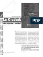 La Ciudad Habitat de Divers Id Ad y Complejidad ( Maria Clara Echeverria