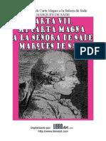 Marques de Sade - Carta Vii
