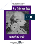 Marques de Sade -Carta III