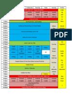 Updated Weekly Homeschool Schedule