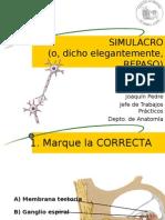 Anatomía III Simulacro
