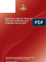 Industy Code of Practice for Safe Working in a Confined Space 2010