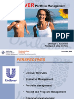 Portfolio Management - Unilever