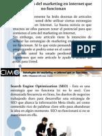 Algunas Estrategias de Marketing en Internet que no funcionan