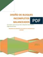DISEÑO DE BLOQUES INCOMPLETOS BALANCEADOS