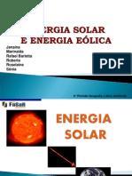 Trabalho Energia Solar e Eólica