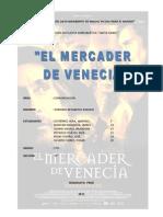 FICHA DE ÁNALISIS LITERARIO -  Mercader de Venecia.