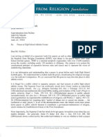 Freedom From Religion Foundation - Letter to Arab Board of Education - Sep. 15, 2011