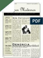 Tempos Modernos (Informe da 2ª reunião)