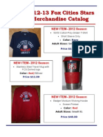 2012-13 Fox Cities Stars Merchandise Catalog