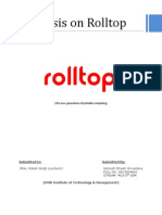 Synopsis on Rolltop
