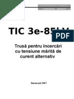 Carte tehnica TIC3 85