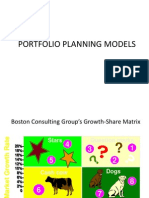 Portfolio Planning Models