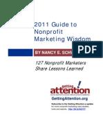 Guide Nonprofit Marketing Wisdom 2011