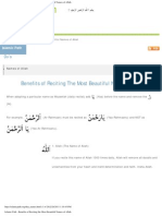 Islamic Path - Benefits of Reciting the Most Beautiful Names of Allah