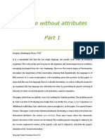 Science Without Attributes Part 1