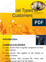 Banking -Special Type Sof Customers