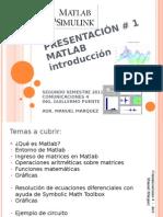 Presentacion 1 Introduccion Matlab
