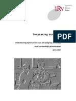Verstandelijk en of Lichamelijk Gehandicapten Definitief Rapport 131 (2)