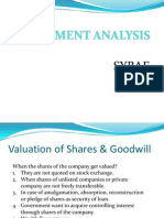 Valution of Shares Theory.