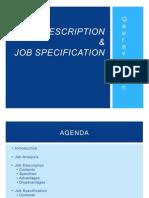Job Description & Job Specification