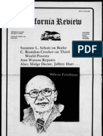 California Review Interviews Milton Friedman