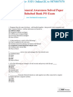 Computer General Awareness Solved Paper for Allahabad Bank PO