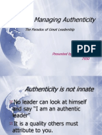 Managing Authenticity PPT by JAIDEEP 7950