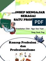 Konsep Mengajar Sebagai Satu Profesion