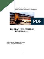Tolerante Si Control Dimensional - Curs