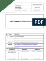 DGTNT-010912-TSI-PRC Procedimiento Gestion de La Entrega