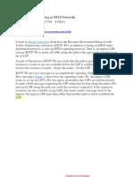 Understanding Signaling in MPLS Networks