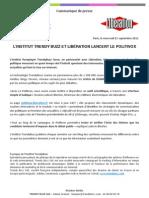 L'Institut TrendyBuzz et Libération lancent le Politivox