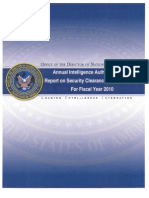 US Security Clearances (2010)
