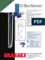 Li'l Blue, Belt Oil Skimmer, Portable Belt Skimmer   Abanaki Corporation
