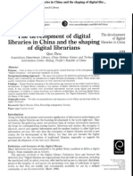 The Development of Digital Libraries in China..