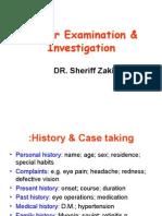 Ocular Examination & Investigation