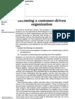 Becoming a Customer Driven Organization