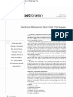Electronic Resources Wont Sell Themselves