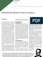 Beyond Elevator Speeches