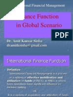 Finance Function in Global Scenrio