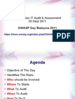 Introduction To ICT Security Audit OWASP Day Malaysia 2011