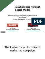 Social Media Presentation KCDMA 11-17-06